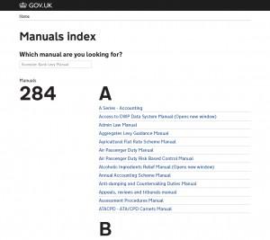 Manuals Index